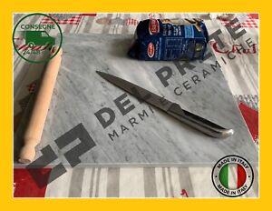 TAGLIERE IN MARMO BIANCO CARRARA TUTTE LE MISURE 2CM PIANO PER IMPASTARE SPIANAT