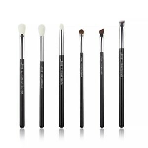 Jessup Makeup Brushes Set 6- 25pcs Black/Silver Professional With Natural Hair