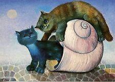 POSTCARD CARTE POSTALE ILLUSTRATEUR RENATE KOBLINGER N° LA 232 CAT / CHAT