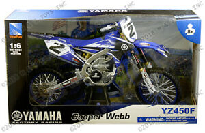 Cooper Webb Yamaha YZ 450F Motorcycle Racing 1:6 Scale Die-Cast  - New In Stock