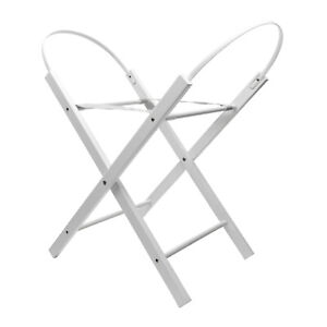 Kinder Valley Opal Folding Moses Basket Stand White - Deluxe Solid Pine