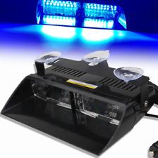 New Car 16 LED Blue Police Strobe Flash Light Dash Emergency Flashing Light