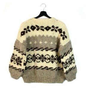 80s Scandinavian vintage pure wool sweater pullover jumper Denmark S M women's