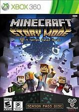 Minecraft Story Mode Season Pass Disc Microsoft Xbox 360 2015 - Used