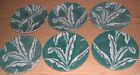 Lot of 7 Tepco Restaurant Ware Green Banana / Palm Leaf Salad Plates Vintage