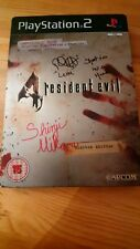 Rare Resident Evil 4 Ps2 Signed Steelbook Game By Shinji Mikami