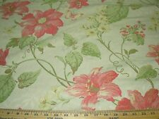 """~23 YDS~MODERN """"FLOWERS BUTTERFLIES""""~EMBROIDERED UPHOLSTERY FABRIC FOR LESS~"""