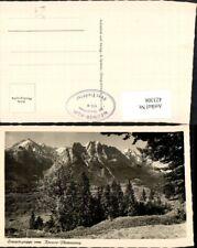 423308,Zugspitzgruppe vom Kramer-Plateauweg b. Farchant Bergkulisse