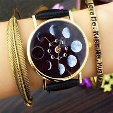 Women Astronomy Quartz Movement Moon Phase Lunar Eclipse Wrist Watch Watches
