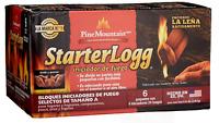 StarterLogg Firestarter -Pine Mountain - Fire starter Blocks, 24 (4x6packs)