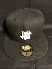 New Era Undefeafed 59fifty Hat Cap Black 7 3/8
