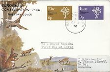 (40580) CLEARANCE Ireland FDC Conservation Year - 23 Feb 1970 fair condition