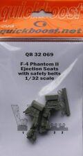 Quickboost 1/32 asientos de eyección F-4 Phantom II con cinturones de seguridad para Tamiya # 32069