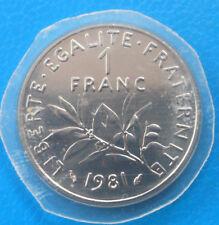1 franc semeuse non circulée 1981 , cote FDC 60