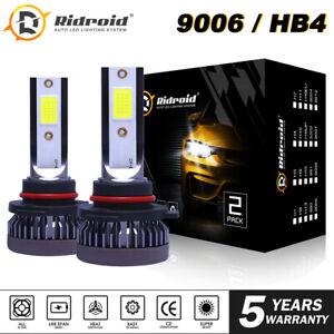 2x 6000K Mini 9006 HB4 LED Headlight Bulbs Kit Low Beam 120W 26000LM Super White