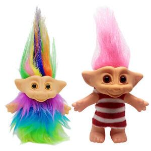 Colorful 2pcs Dollhouse Mini Figures Lucky Troll Doll Leprocauns Cake Topper