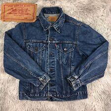 Vintage 1980's Levi's Strauss USA 70506-0217 Blue Denim Trucker Jean Jacket 40