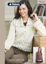 Patons double knitting pattern 3641 Ladies lace edge jacket  + cardigan