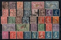 PP135315/ FRANCE STAMPS – YEARS 1900 - 1926 USED SEMI MODERN LOT – CV 198 $