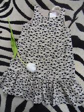 schickes Leo Leopard Volant Kleid H&M Gr. 116 Kleid beige schwarz weiß NEU