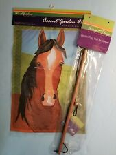 "Garden Flag 18""x12"" with Hanger- Horse Silly Filly (New & Nrfp)"