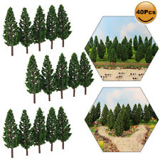 40pcs Model Pine Trees Green 1:87 For TT HO Scale Railway Layout 7cm S7828