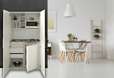 Schrankküche Küche Miniküche Küchenzeile Singleküche Küchenblock weiß respekta