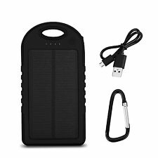 Solar Panel Bank 4000mAh with 12LED Lights Water/ Shock/ Dust Resistant