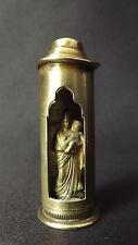 French Antique Travel Pocket Shrine Reliquary Virgin Mary and Child Jesus