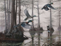 2016 Arkansas Ducks Unlimited Sponsor Print Signed AP Cypress Bayou Neighbors