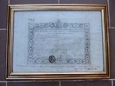 LAUREA REGNO DUE SICILIE 1855 UNIVERSITA' DI NAPOLI SOTTO FERDINANDO II BORBONE