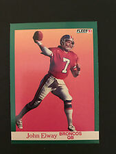 1991 Fleer Football - John Elway - Card # 45