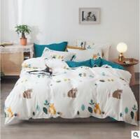 3D Bear Fox ZHUA4164 Bed Pillowcases Quilt Duvet Cover Set Queen King Zoe