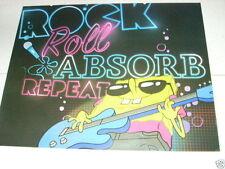 SPONGEBOB SQUAREPANTS Guitar 16x20 Poster Rock Roll Absorb & Repeat