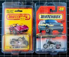 Dealer Dave TWO POPULAR MATCHBOX MOTORCYCLES MINT ON CARD, HARLEY DAVIDSON (O30)
