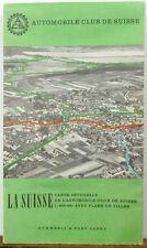 1959 Switzerland road map Automobil Club der Schweiz Zurich Geneve Basil  + maps