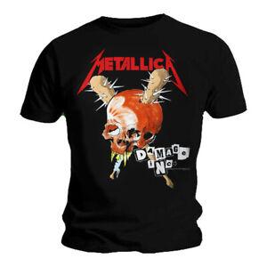 Official Metallica T Shirt Damage Inc Tour Black Classic Rock Metal Band Mens