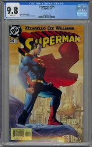 🔥 SUPERMAN #204 CGC 9.8 NM/M WP JIM LEE ART AND COVER DC COMICS 2004 DCU  🔥