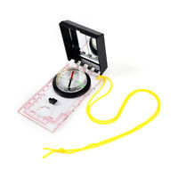 Outdoor Survival Camping Hiking Compass Tool With Mapping Ruler and Mirror Set F