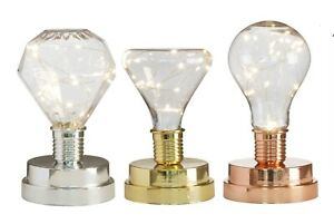 Battery Operated LED Desk Lamp Retro Bulb Light Up Bedside Lantern Home