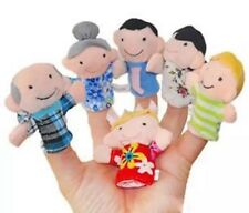 Finger Puppets Lot Of 6 Family People Puppets 7cm US Seller