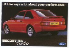 Ford Escort RS Turbo Original  Postcard Rear  view SP1386