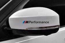 2x BMW M Performance side Black mirror cover sticker  F10 F20 F30 E60 E70 E90