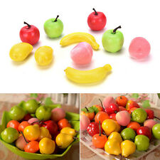 10X Artificial Decorative Plastic Fruit Home Decor Garden House Kitchen UK MW