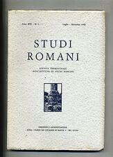 STUDI ROMANI#Trimestrale Ist.Studi Romani - Anno XVI - N.3#Luglio/Settembre 1968