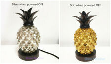 "9.7"" Glass Electroplating Pineapple Bedside Table Lamp Night Light Home Decor"