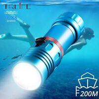 90000lm L2 LED Diving flashlight Scuba Torch 200M Underwater Dive lamp 26650