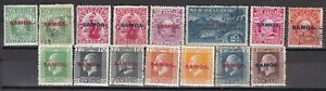 SAMOA EARLY OVERPRINTS ON NEW ZEALAND STAMPS MINT AND USED COLLECTION 15 STAMPDS