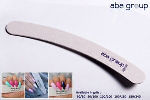 Professional Quality Nail Files Acrylic Gel Tips Choose your grit BANANA