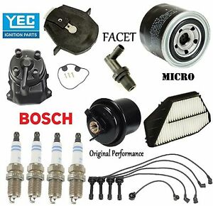 Tune Up Kit Filters Cap Rotor Spark Plugs Wire for Honda Odyssey 1995-1996